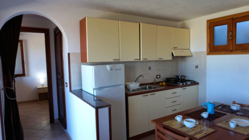 cucina e corridoio bilocale